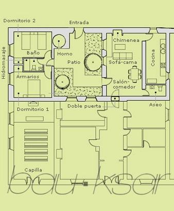 Planos, observar doble puerta con casa del Ingeniero