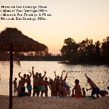 Playa fluvial Minas de Sao Domingo (PO) 25  Km