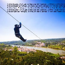 Tirolina España -Portugal en Sanlucar del Guadiana a 14 Km