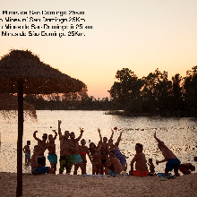 Playa fluvial Minas de Sao Domingo 25  Km
