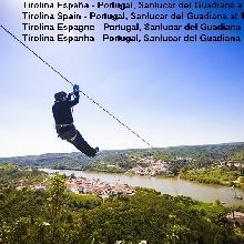 Tirolina España - Portugal a 14 Km, Sanlucar del Guadiana