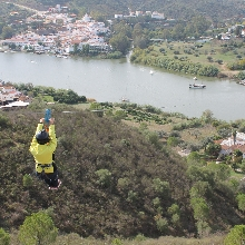 Tirolina Sánlucar de Guadiana (España) - Alcoutim (Portugal)