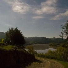 El Guadiana con luna llena