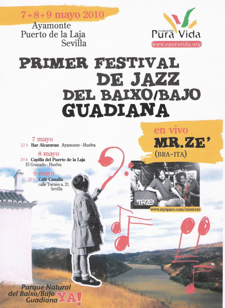 Cartel Jazz Bajo Guadiana